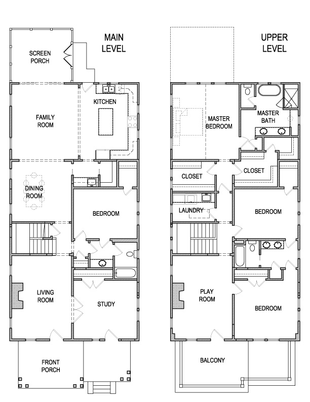 Main and Upper Floor Plans