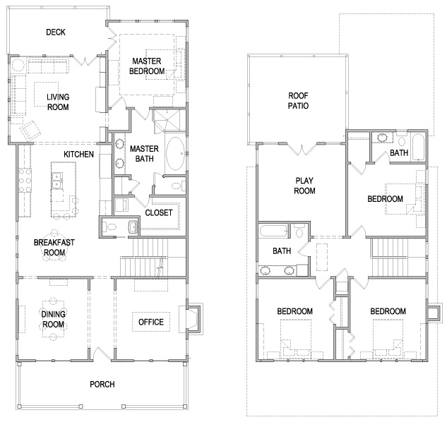 American Four Square Style House Plan Eurohouse Four